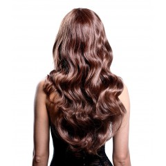 Synthetic brown hair extension
